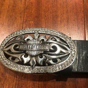 Ladies Harley-Davidson belt with rhinestones